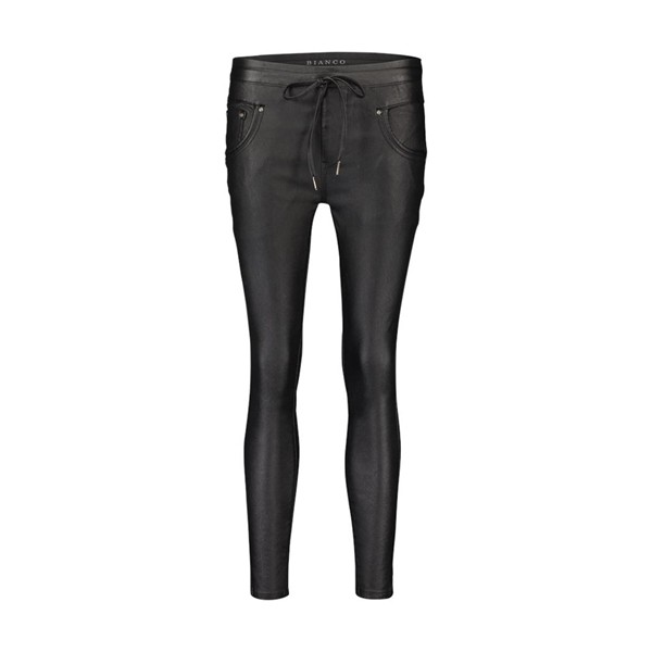 Bianco Slim Fit Broek 1218113 Caoted Black