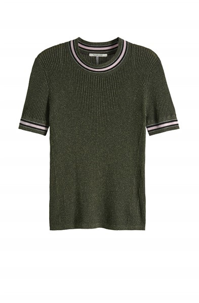 Scotch Dames Luxe Lurex Tshirt 150251 Groen
