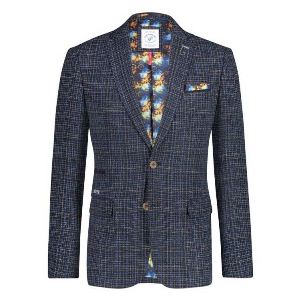 A Fish Named Fred Blazer Heavy Woven Blauw