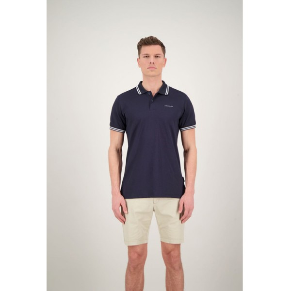 Airforce Double Stripe Polo HRM0655 Blauw Wit