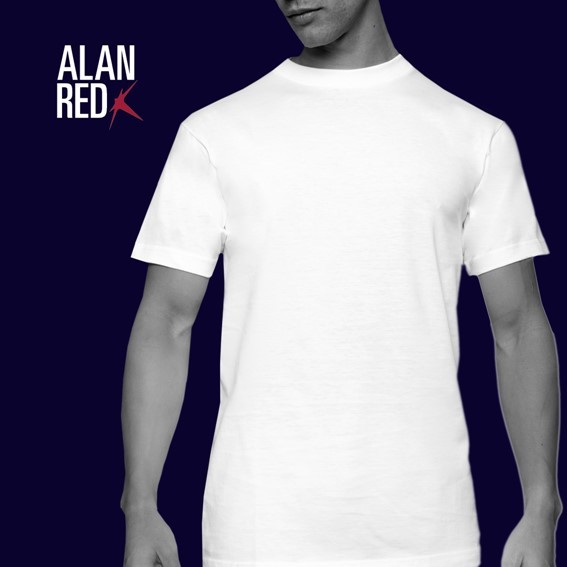 Alan Red 2 pack Tshirts Wit