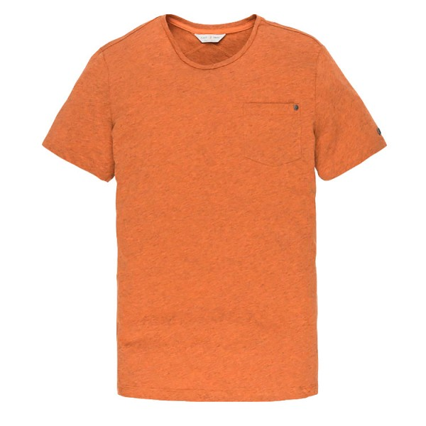Cast Iron Oranje T-shirt Mouline Jersey