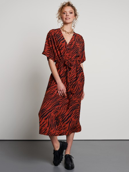 Catwalk Junkie Animal Stripes Jurk Rood