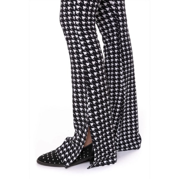 Colourful Rebel Marcy Dogtooth Broek zwart wit