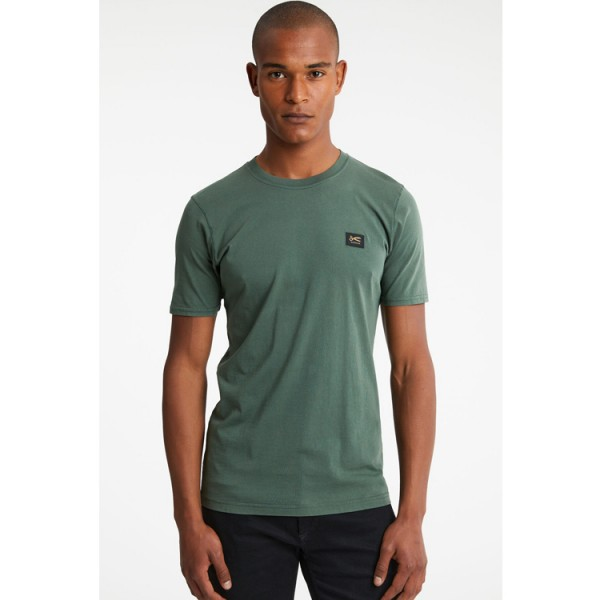 Denham Applique Slim Fit Tshirt Groen