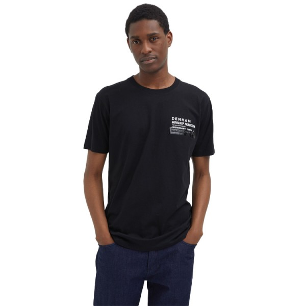 Denham Worschip Tradition Tee Black