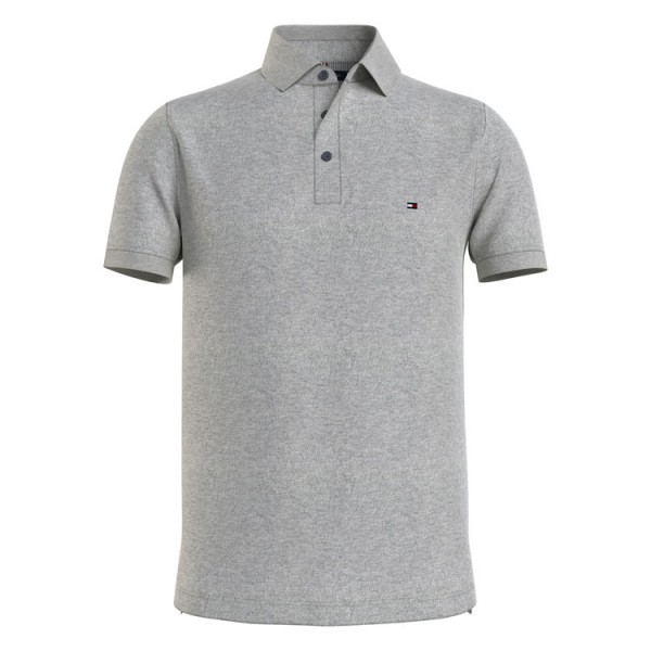Hilfiger Slim Fit Polo 17771 Korte Mouw Mid Grey