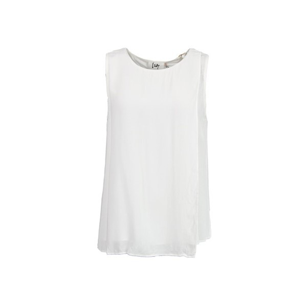 I Say Topje Gyrit Mouwloos Off White
