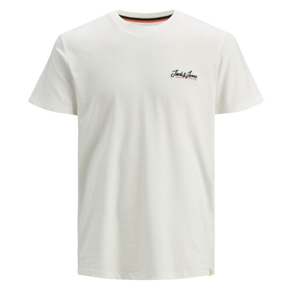 Jack & Jones Heren Tshirt Ronde Hals 12186758 Off White