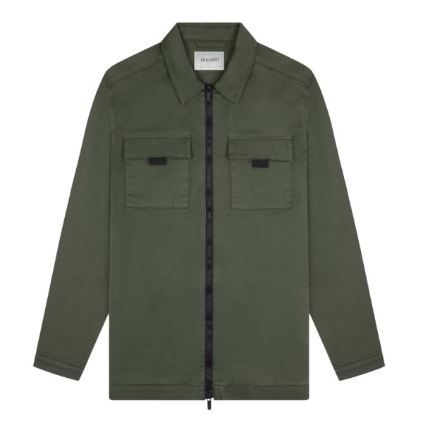 Lyle and Scott Overshirt Rits Groen