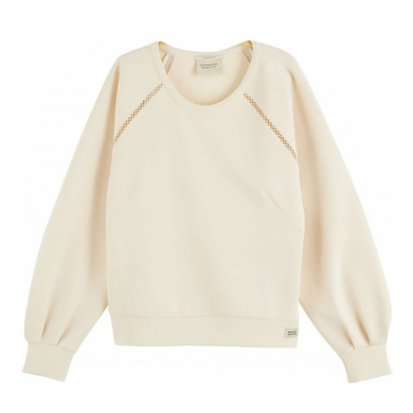 Maison Scotch Crewneck 159321 Off White