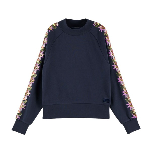 Scotch Dames Decoratie Dames Sweater 159322 Blauw