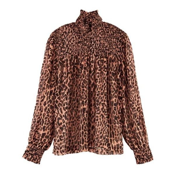 Scotch Dames Panter Print Top 158956 Roze Bruin