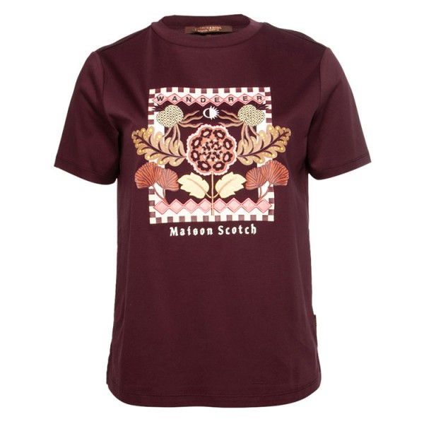 Scotch Dames Tshirt 159258 Bordeaux Rood