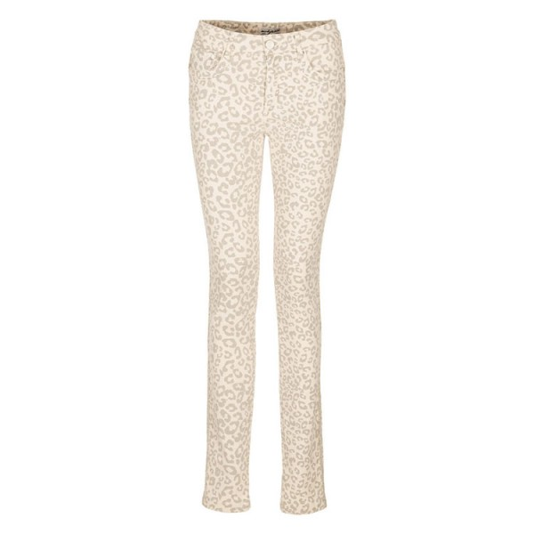 Nick Jean Leopard Broek off white
