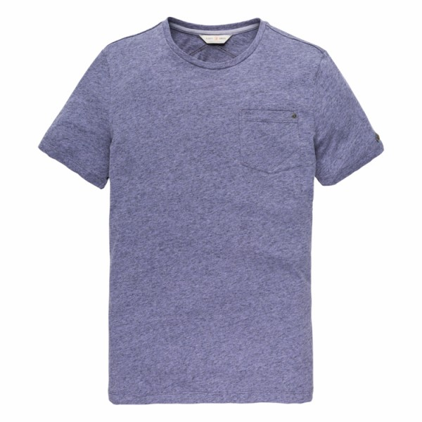 Lila Mouline Jersey T-shirt Cast Iron