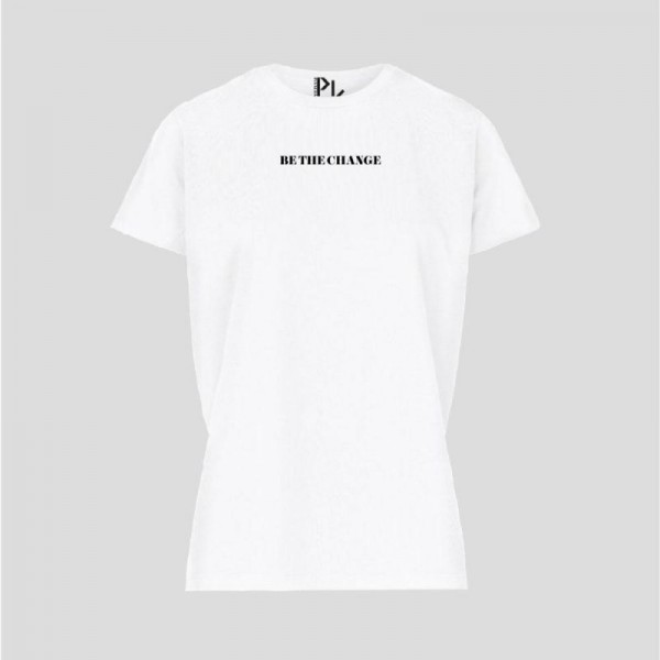 Pinned Be The Change Tshirt Wit