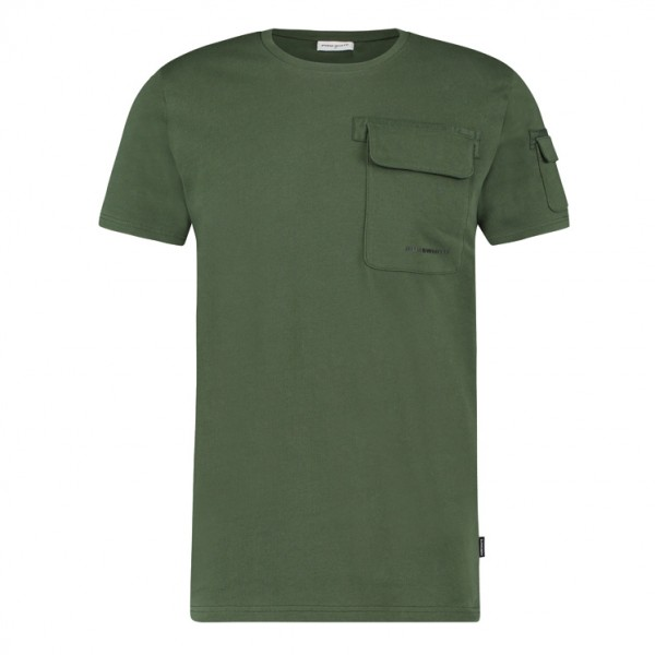 Pure White Cargo T-Shirt 21030116 Army Green