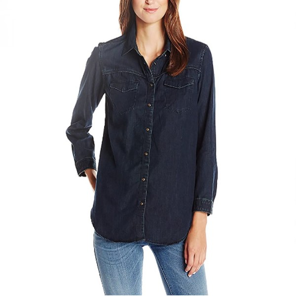 Scotch Dames Western Jeans Blouse Blauw