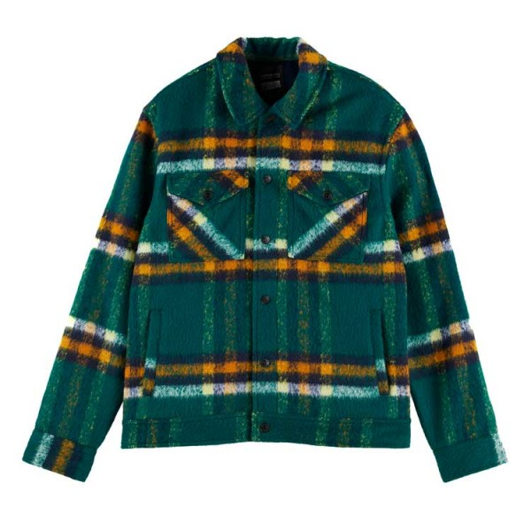 Scotch & Soda 158816 Overshirt Ruit Groen