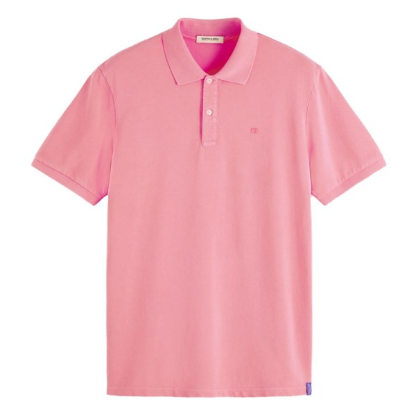 Scotch Soda Garment-dyed polo rose