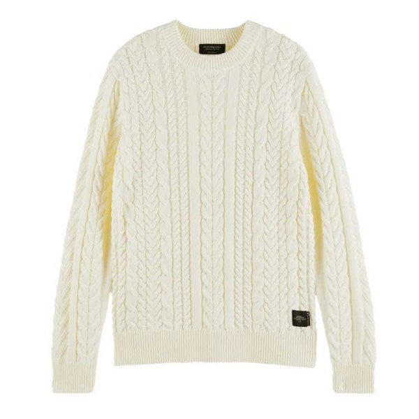 Scotch + Soda Kabel Pullover 158631 Off White