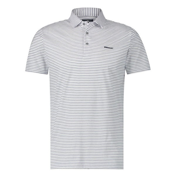 State of Art Jersey Streep Polo 11598 Wit