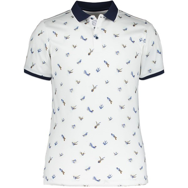 State of Art Polo 10772 Vogelprint Wit