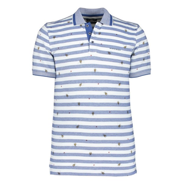 State of Art Polo Gestreept Blauw