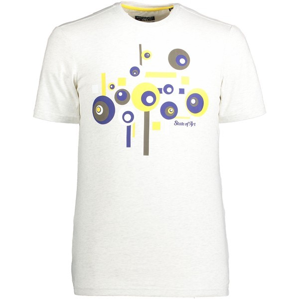 State of Art T-shirt Print 10501 Lichtgeel
