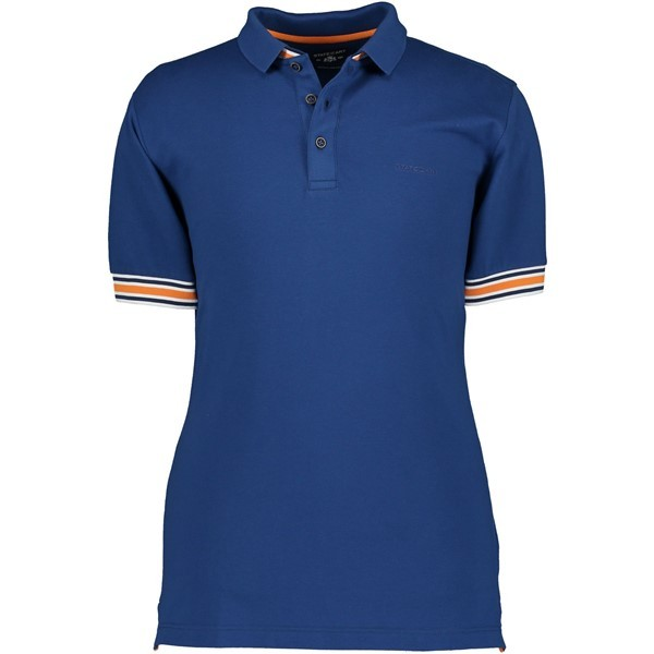State of Art Polo Piqué 10584 Blauw Oranje
