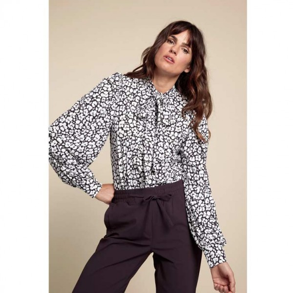 Studio Anneloes Donna Blouse 06148 blackberry / offwhite