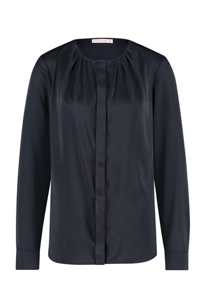 Studio Anneloes Haily Satin Blouse Blauw