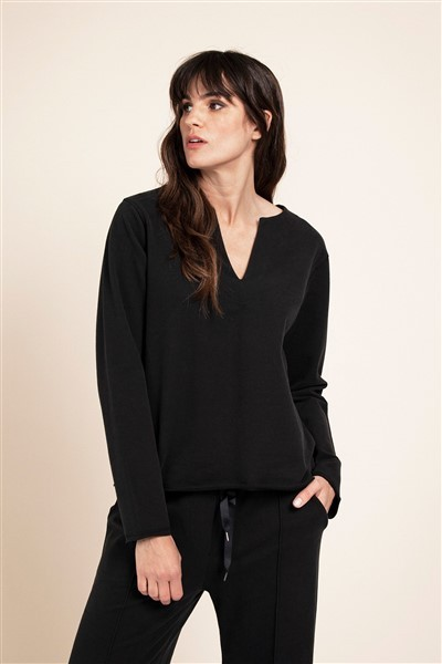 Studio Anneloes Mae Comfy Stretch Sweater 05552 Zwart