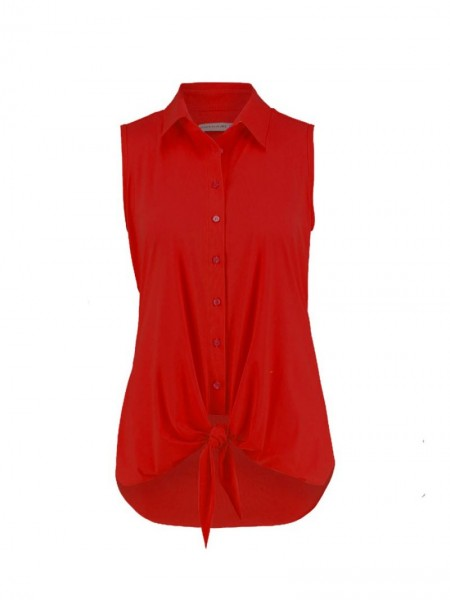 Studio Anneloes Poppy Knot Blouse Rood