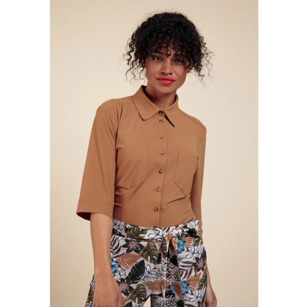 Studio Anneloes Rowy blouse 06027 Caramel