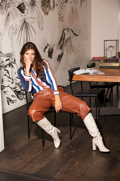 Studio Anneloes Vegan Leather Florien Broek Cognac