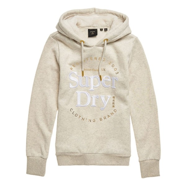 Superdry Hooded Dames Sweater Zand