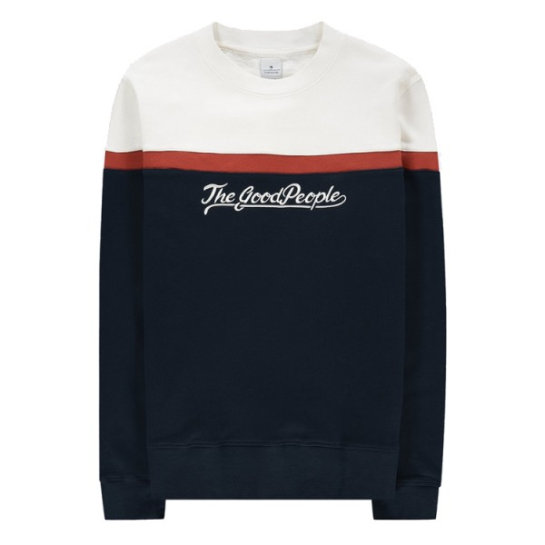 Sweater Rood Wit Blauw Good People