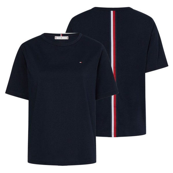 Tommy Dames Relaxed Tshirt Rugstriping 30469 Donkerblauw
