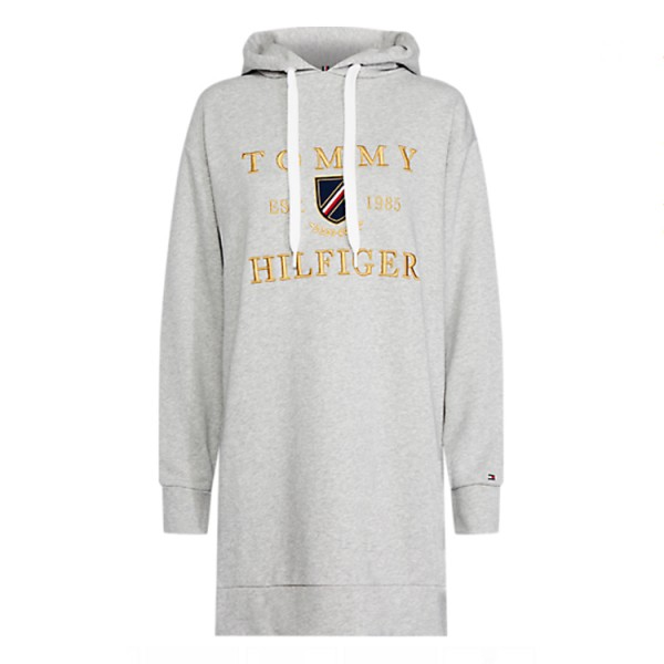 Tommy Hilfiger Grijze Sweatdress Kristal