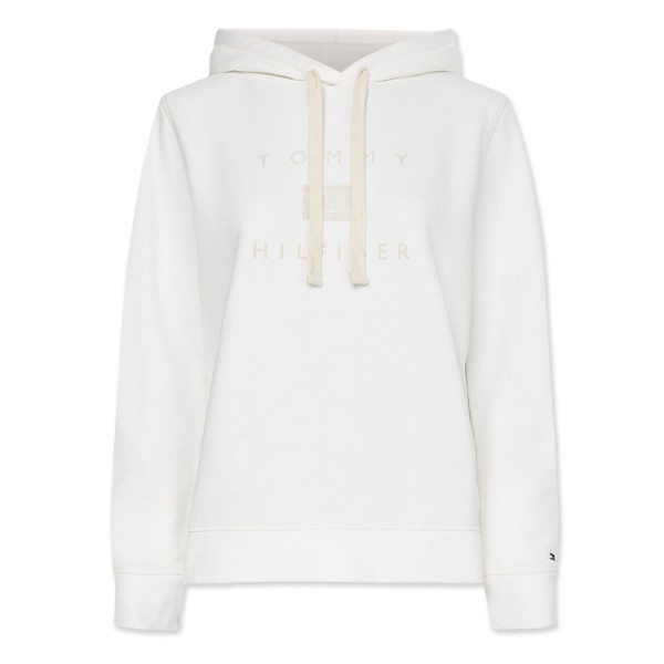 Tommy Hilfiger Hooded Flockprint Sweater 31725 Off-White