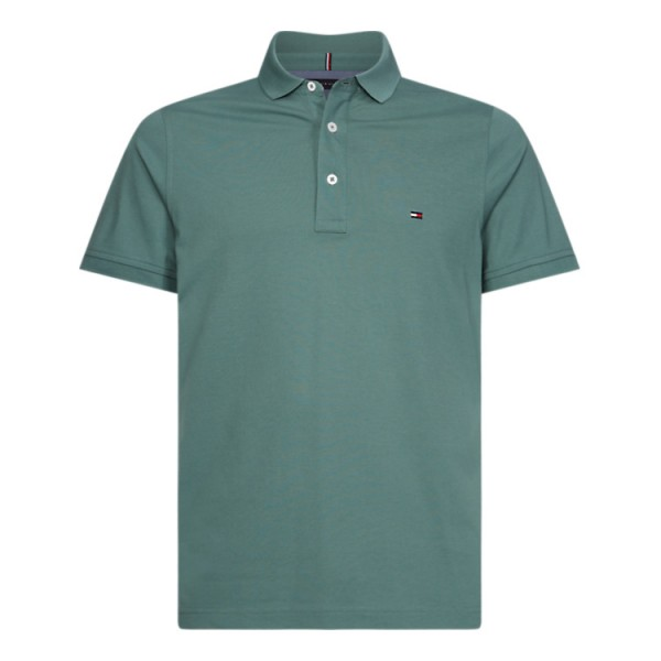 Tommy Slim Fit Polo Pique Juniper Green