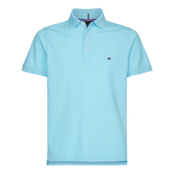 Tommy Slim Fit Polo Pique Lichtblauw