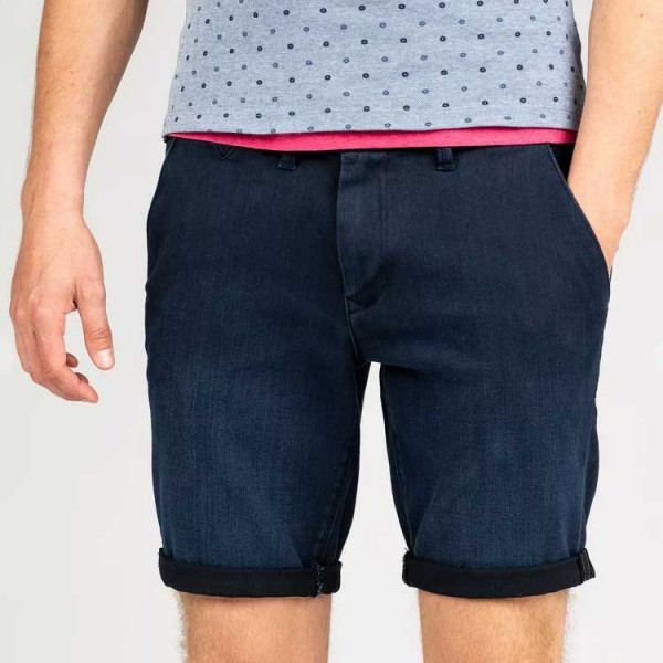 Vanguard Denim Chino Shorts Blauw