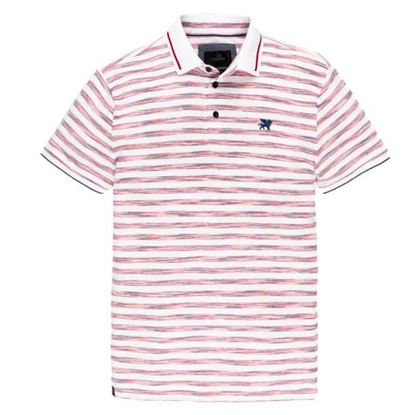 Vanguard Short Sleeve stripe Pique Polo Roze