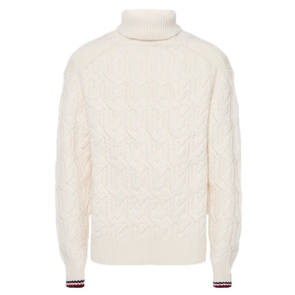Tommy Hilfiger Trui Kabel Col Off White
