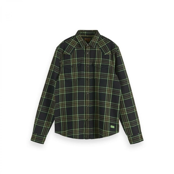 Scotch Soda Ruiten Overshirt 152189 Groen