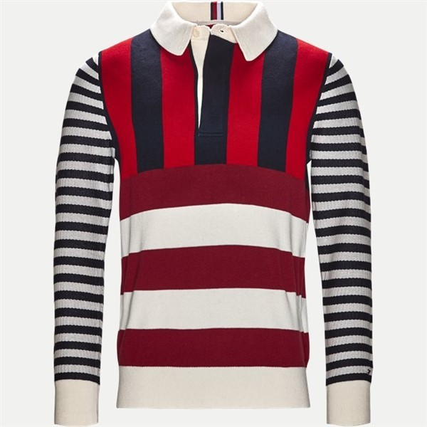 Tommy Hilfiger Retro Winter Polo Sweat 7879 Rood